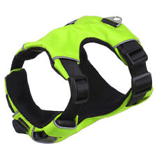 Green Reflective No Pull Mesh Padded Dog Vest Harness for S/M Dogs