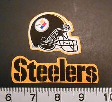 FREE SHIPPING NFL Pittsburgh Steelers Iron On Fabric Applique Patch Logo DIY #1