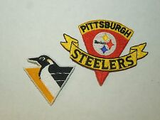 Set of 2 Pittsburgh Sports Teams Patches- NHL Penguins and NFL Steelers