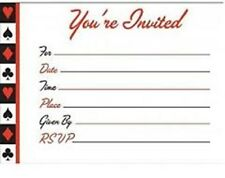 Casino Card Night Party - 8 Invitations + Envelopes - Free Post in UK