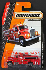 2014 Matchbox #100 1963 Mack® B Fire Truck RED/MOC