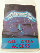 Metallica Ride The Lightning Laminated ACCESS ALL AREAS Backstage Tour Pass