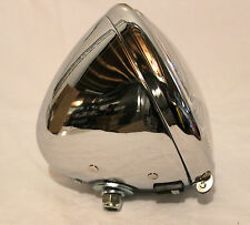 Harley Knucklehead Flathead Panhead Headlight Chrome 67701-35 complete New (188)