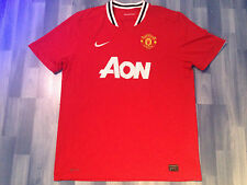 X LARGE ADULTS MANCHESTER UNITED FOOTBALL SHIRT SEASON 2011-2012 HOME