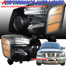PAIR BLACK HOUSING HEADLIGHTS BULBS INCLUDED FOR 2004-2007 NISSAN TITAN ARMADA