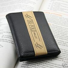 New A Quality Mens Trifold Soft Leather Wallet Multi Pockets Card Case ID Black
