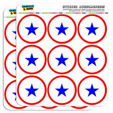 "Blue Star Flag One 1 War Mother Service 2"" Scrapbooking Crafting Stickers"
