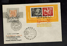 1950 Leipzig DDR East Germany Imperf Souvenir Sheet Cover # B21a