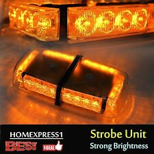 Roof Top 24 LED Warning Emergency Hazard Rooftop Flash Strobe Light Bar Amber HL