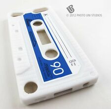 WHITE FUN CASSETTE TAPE SILICONE RUBBER SKIN CASE COVER APPLE IPOD TOUCH 5 5TH