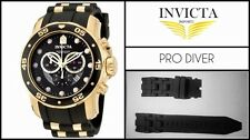 Black Silicone Rubber Watch Band Strap For Invicta PRO DIVER SCUBA