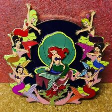 Disney Little Mermaid Ariel Sisters Jumbo Stained Glass Fantasy Pin LE 50 Pin