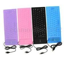 USB Waterproof Flexible Foldable Keyboard Silicone for Sony PS2 Computer Laptop
