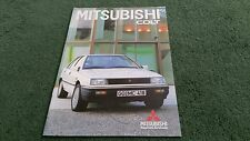 Aug 1987 / 1988 Model MITSUBISHI COLT GL / GLX / GL DIESEL GERMAN 24pg BROCHURE