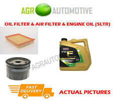 PETROL OIL AIR FILTER KIT + FS F 5W30 OIL FOR FORD FUSION 1.6 101 BHP 2002-12