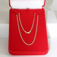 "UNISEX UNOAERRE 18.5"" HEAVY SOLID 14K GOLD CURB CHAIN NECKLACE, 8.7 gms, EXC!"