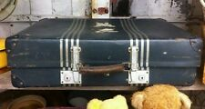 VINTAGE Retro Blue REVELATION industrial trunk Case Suitcase Display Luggage OLD