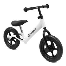 "Kids Child Push Balance Bike Bicyle 12"" White"