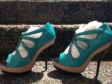 Asos Teal Green Stiletto Platform Heels Size 10Us
