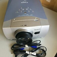 CANON LV-7555 (SANYO PLC-XP55) LCD PROJECTOR, 4600 LUMENS!!! NEW FACTORY LAMP!!!