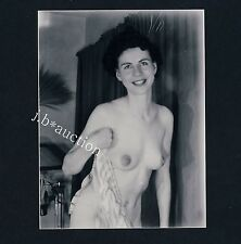 Pretty Nude Girl at home/NUDE SIGNORA a casa * VINTAGE 60s US PHOTO