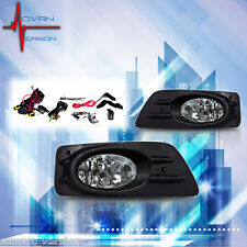 06-07 Honda Accord Sedan Fog Lights Clear Lens 4DR Font Bumper Lamps FULL KIT