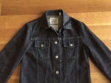 HELMUT LANG Vintage Archives 1999 Womens Black Denim Trucker Jean Jacket Size 38