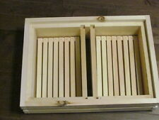 WOODEN HIVE TOP HONEYBEE FEEDER FOR THE PROFESSIONAL HIVE