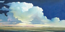 ORIGINAL OCEAN, SEASCAPE, CLOUDS OIL PAINTING BY LISTED ARTIST WILLIAM HAWKINS!!
