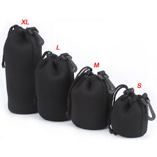 4PC Canon Nikon Sony Waterproof DSLR SLR Camera Lens Bag Pouch Case Cover Padded