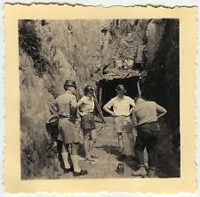 PHOTO ANCIENNE - VINTAGE SNAPSHOT - MINE INGÉNIEUR TRAVAIL CASQUE AFRIQUE - WORK