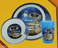 NEW~WALL.E~ DISNEY PIXAR   3pcs CHILDREN'S MELAMINE  DINNER PLATE SOLD BULK