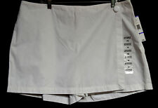 Jones New York Sport Sz 18 White Tennis Golf Skort Skirt Side Button Cotton New