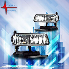 99 00 01 02 Chevy Silverado 00 06 Tahoe Fog Lights Driving Lamps Clear Lens PAIR