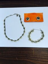 Vintage Bogoff Jewelry Set Necklace, Bracelet, & Earrings