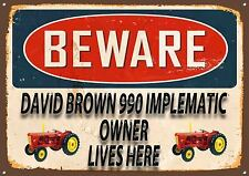 DAVID BROWN 990, TRACTOR,FARMING,COLLECTABLE,VINTAGE STYLE,ENAMEL METAL SIGN,428