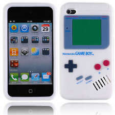 White GameBoy Game Boy 3D Silicone Case Cover for iTouch Touch 4th Gen 4 +SP