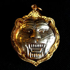 Thai Amulet Tiger face Pendant Magic Charm Power Protect Lucky Rich Success D07