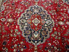 8X11 1940's AUTHENTIC SIGNED HAND KNOTTED 70+YRS ANTIQUE WOOL MASHAD PERSIAN RUG