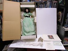Franklin Mint Gone With The Wind Scarlett Doll W/Box & Tag Franklin Heirloom