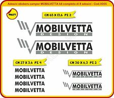 Adesivi stickers camper MOBILVETTA kit completo di 8 adesivi Cod.0055-g