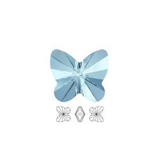 12 Swarovski Crystal Beads Faceted Butterfly 5754 6x5mm, 12 Butterfly 5045 6x5mm