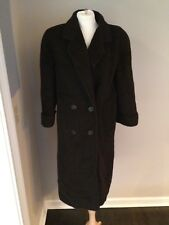 Vintage Regency Chocolate Brown Long Wool Dress Coat Women's Sz 4