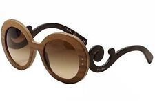 Prada SPR 27R IAM-6S1 Sunglasses BAROQUE Wood/Nut Canaletto SWIRL Italy New