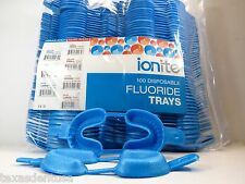 100x Fluoride Arch Mouth Trays Dental Dual LARGE Blue Pack Disposable Cubetas