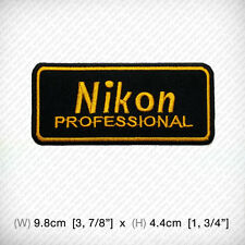 New NIKON Embroidered patch iron on or sew, Decorate Professional Photo Camera