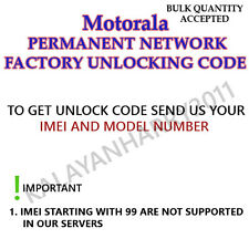 MOTOROLA PERMANENT UNLOCK CODE FOR  Motorola Q9h