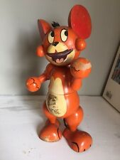 LOVELY OLD UNUSUAL TOM AND JERRY MOUSE VINTAGE WOODEN TOY MONEY BOX