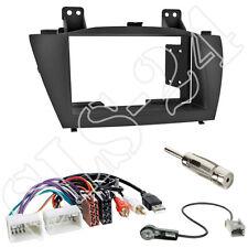 1-DIN Radioeinbau-Komplettset Hyundai ix35 ab2010 Blende+ISO USB Adapter+Antenne