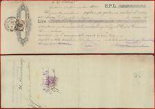 Cambiale banca di Catania 1885